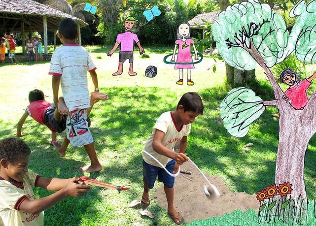 A cultura tradicional do Baixo Amazonas: de crianças para crianças