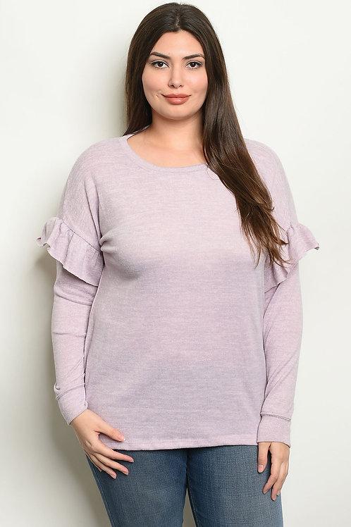 Lavender Plus Size Top