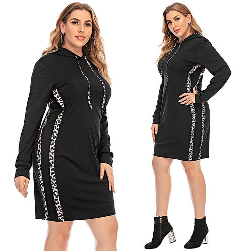 Black Hooded Woman Dress