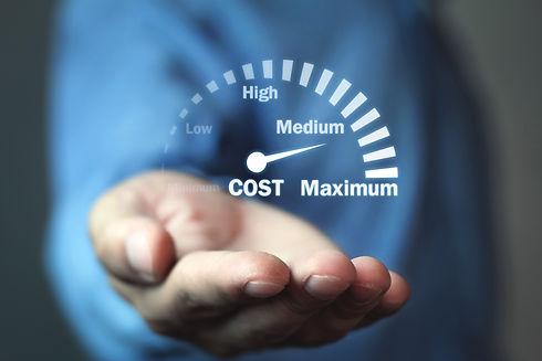 Cost control speedometer. Cost managemen