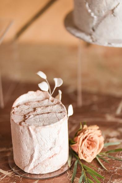 Pink Rough Stone Cake