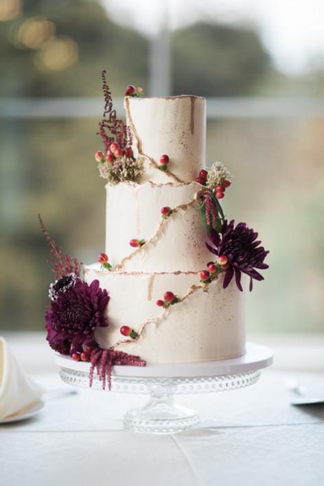 Whimsical Dahlia Buttercream Cake