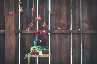 Black Sparkle Jewel Tone Wedding cake