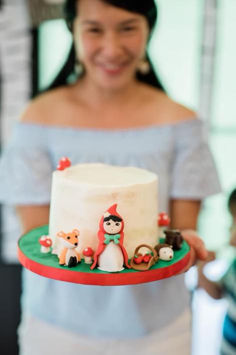 Forest Friends Birthday Cake