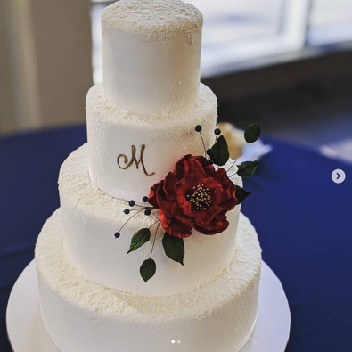 Winter Snow Wedding cake