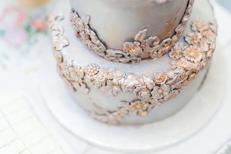 Tarnished Metal Cake