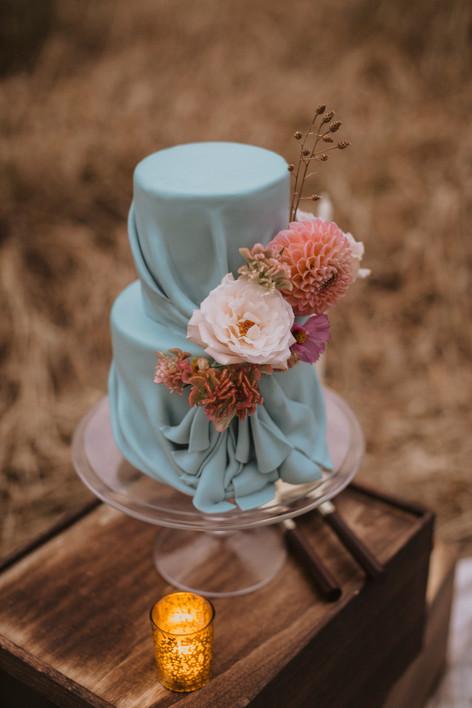 Blue Drape Cake