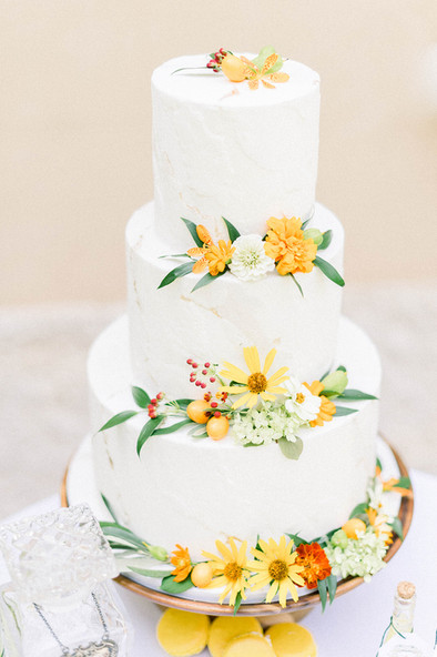 Citrus Yellow Wedding Cake