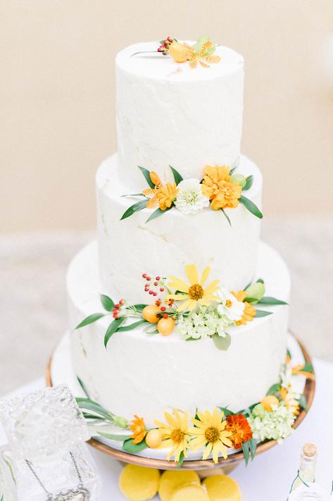 Citrus Yellow Wedding Cake