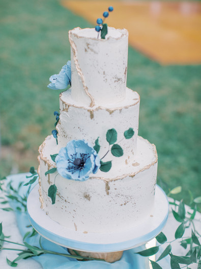 Dusty Blue Poppy Abstract Buttercream Ca