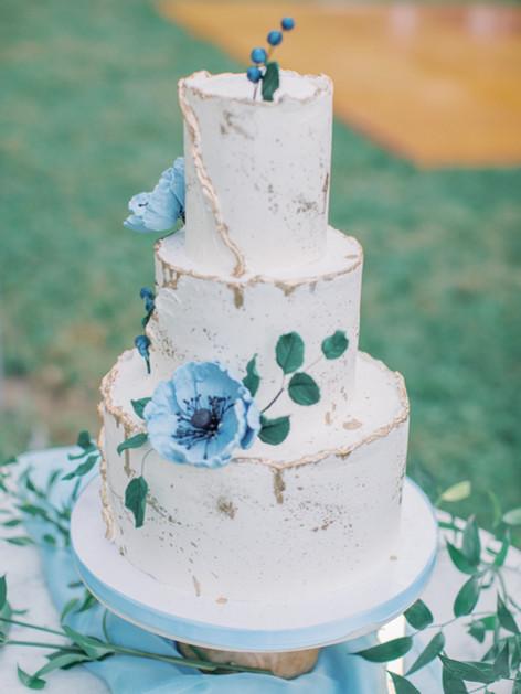 Dusty Blue Poppy Abstract Buttercream Ca