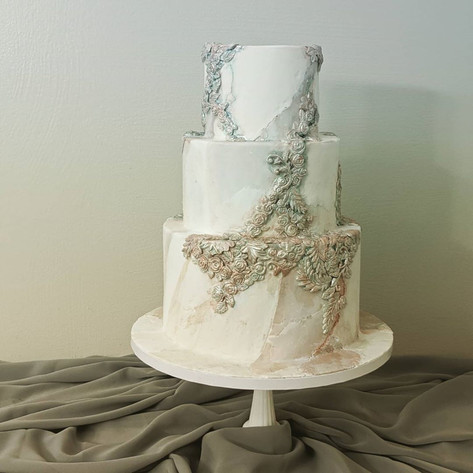 Abstract Stone Faux Wedding cake