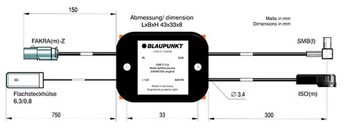 RADIO SPLITTER ACTIVE DAB-S • AM/FM, DAB/DAB+, GPS