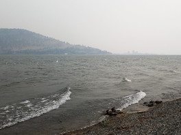 Sand and smoke—it's summer in the Okanagan