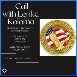 MailChimp PROHIBITS Inviting VIAL Subscribers to Wednesday's ZOOM Call With Lenka Koloma of FTBA!