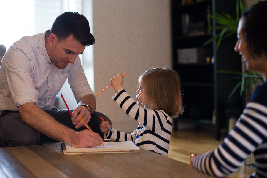 Family photo session at home in Dublin by Camila Lee