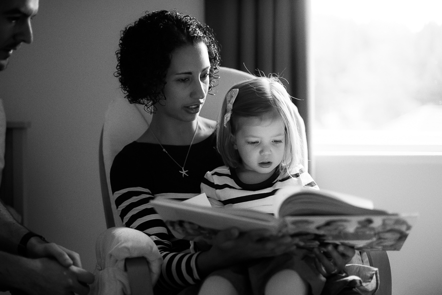 Mother reading to daughter by Family Photographer Camila Lee