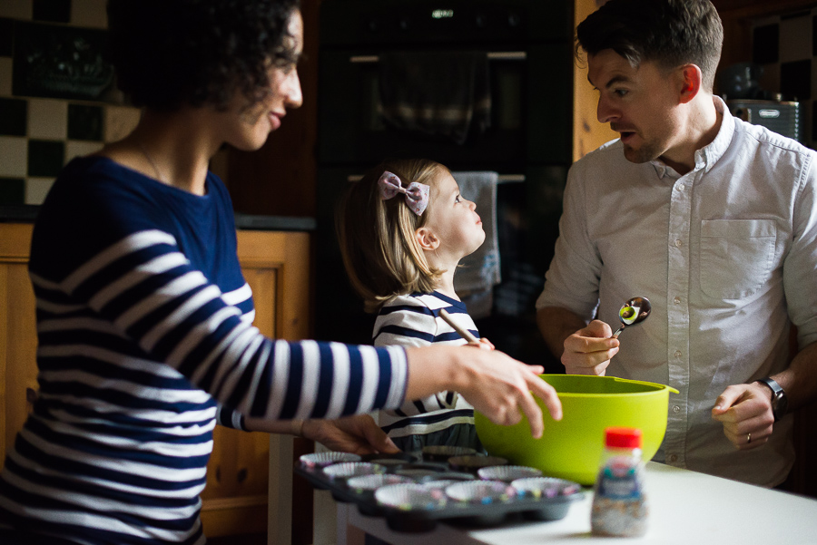 Family baking - photoshoot at home in Dublin by Camila Lee