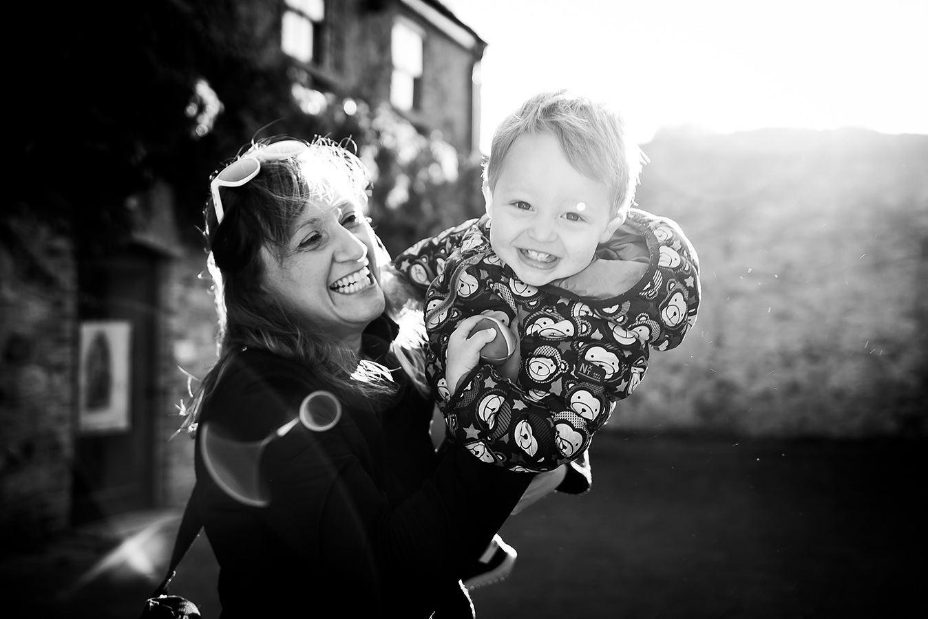 Mother playing with son - Family Photoshoot at Marlay Park in Dublin by Camila Lee