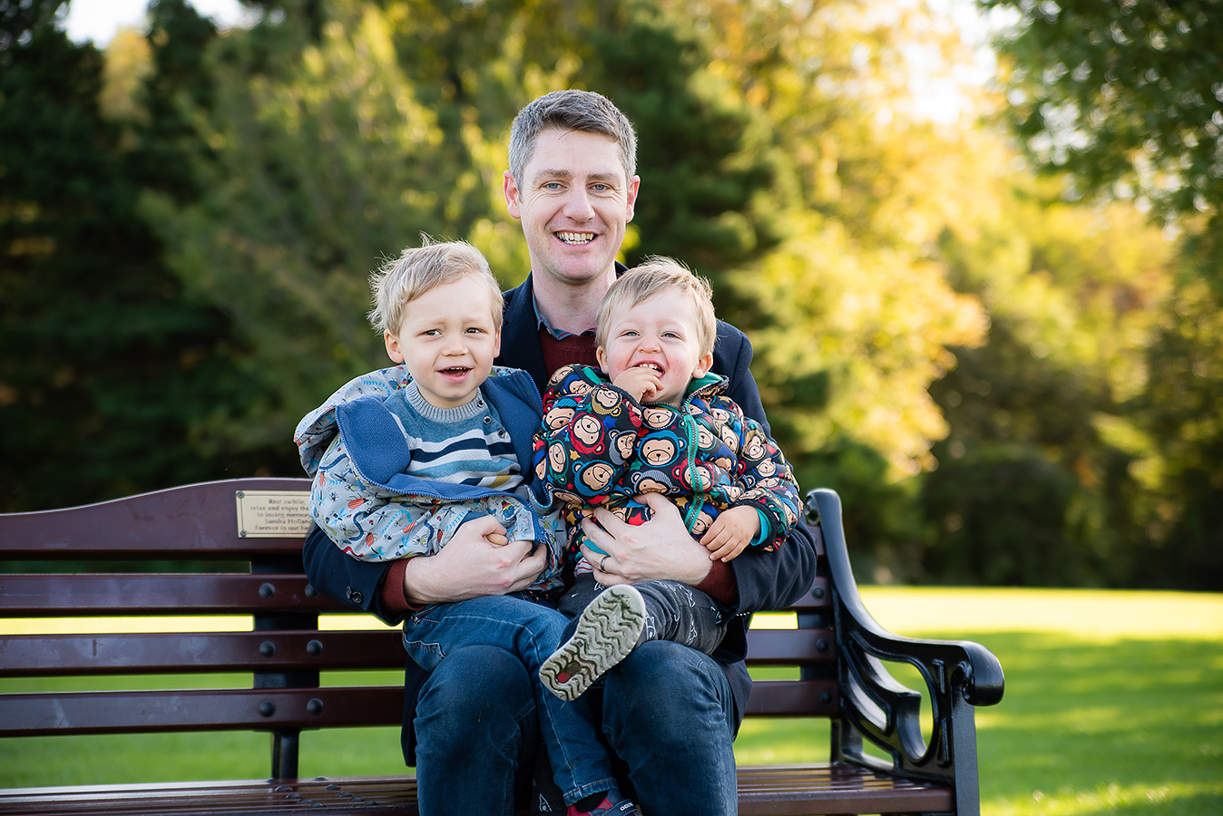 Dad and sons - Family Photoshoot at Marlay Park in Dublin by Camila Lee