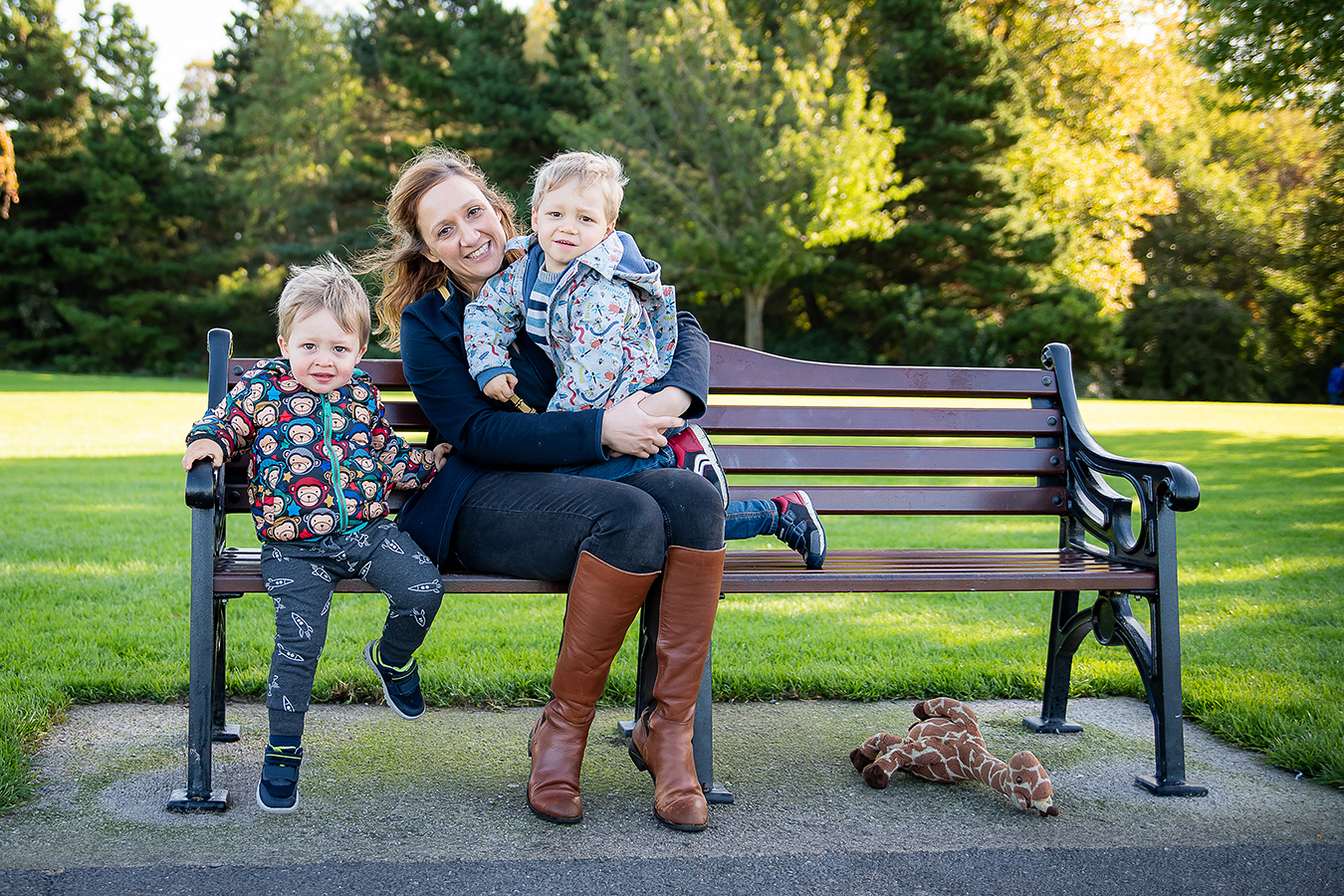 Mother and sons - Family Photoshoot at Marlay Park in Dublin by Camila Lee