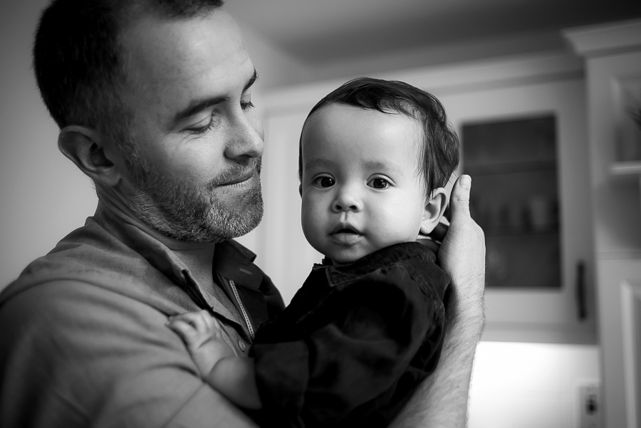 Family session at home - Dad and Little boy