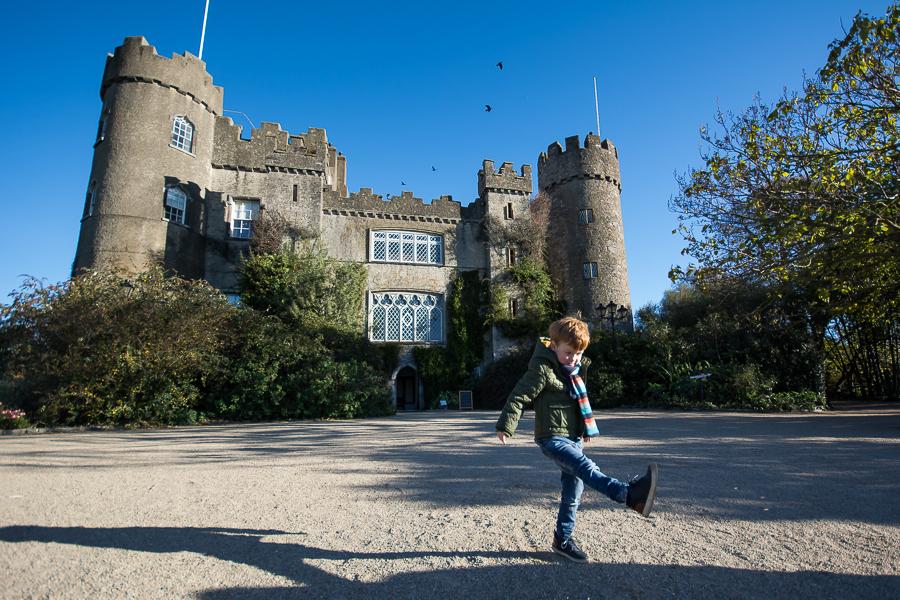 Little boy at Malahide Castle, Dublin - Family Photography Session by Camila Lee