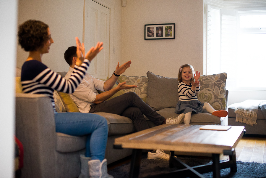 Family photography at home in Dublin by Camila Lee