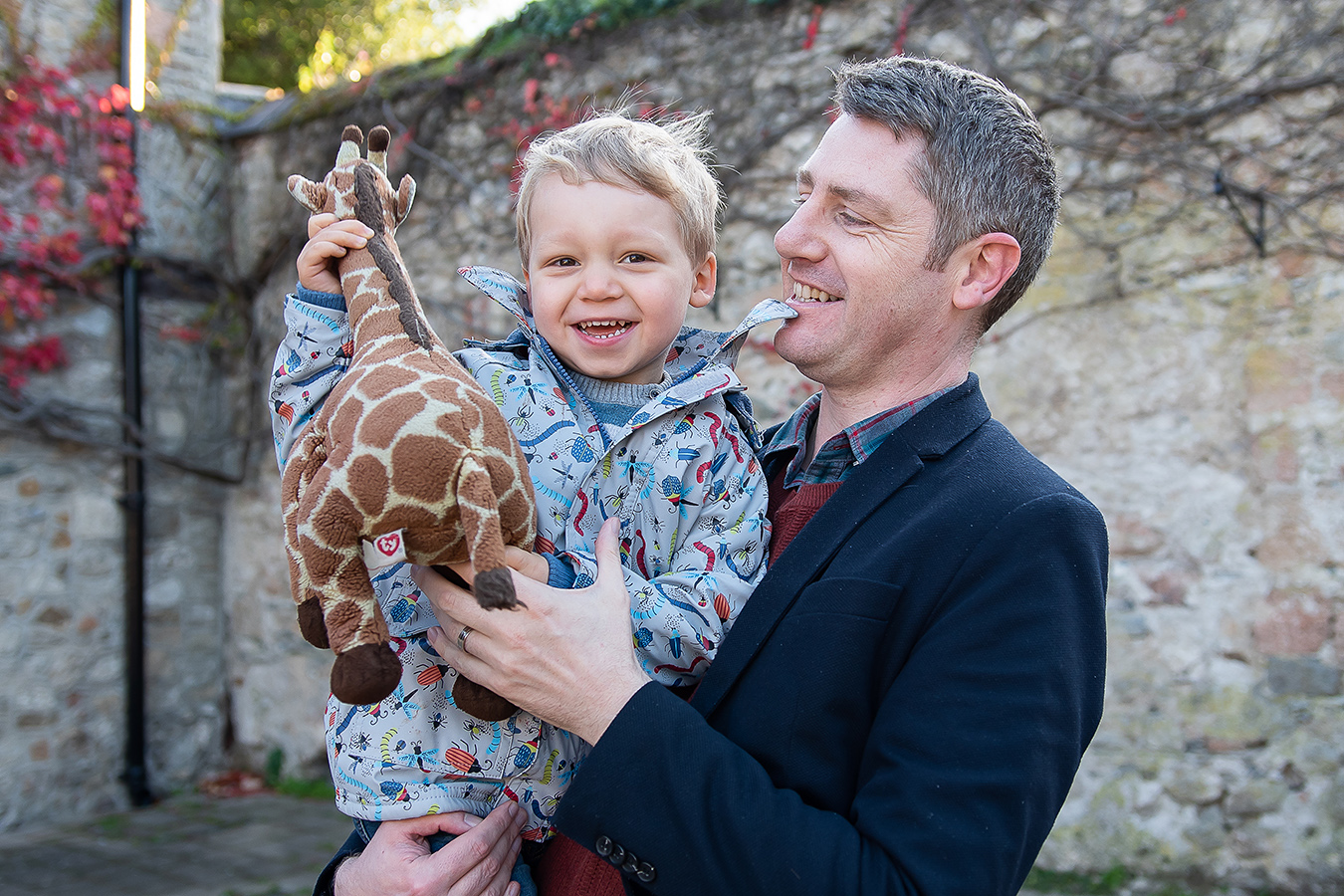 Father and son - Family Photoshoot at Marlay Park in Dublin by Camila Lee