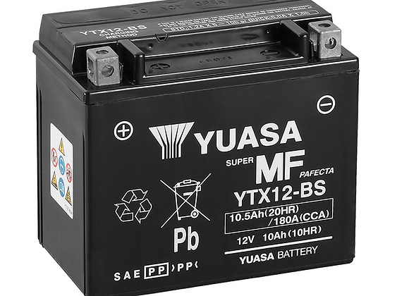 Yuasa Maintenance-Free Battery - YTX12-BS