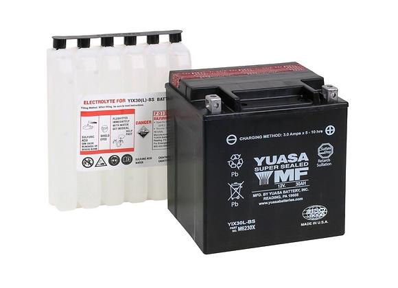 Yuasa High Performance Maintenance-Free Battery - YIX30L-BS   YUAM6230X