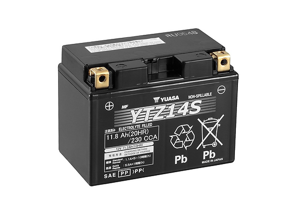 Yuasa Factory Activated Maintenance-Free Battery - YTZ14S YUAM72Z14