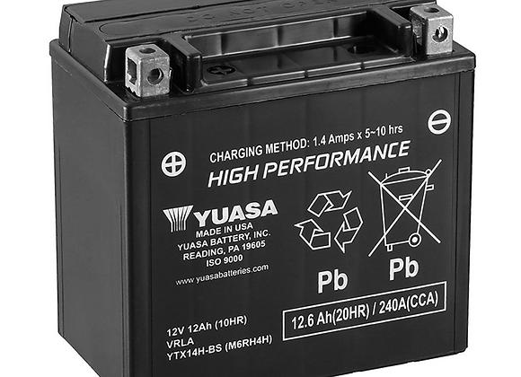 Yuasa High Performance Maintenance-Free Battery - YTX14H-BS YUAM6RH4H