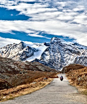 Motorcycle bike on mountain road in the