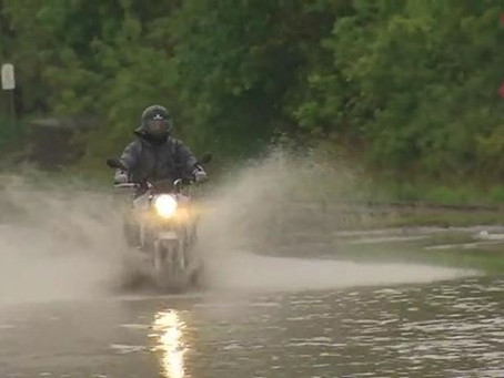 Riding Motorcycle in the rain