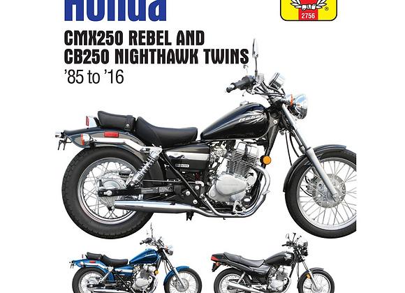 Haynes Repair Manual - Honda CB250 Nighthawk/CMX250 Rebel - 2756
