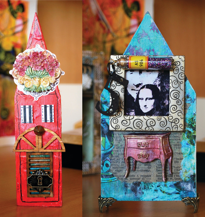 More Mixed Media Houses