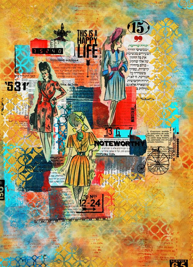 Old ladies Collage