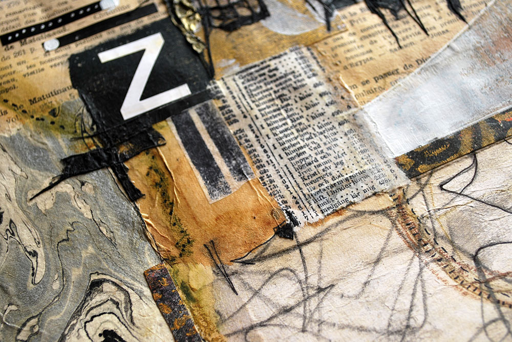 Neutral collage detail