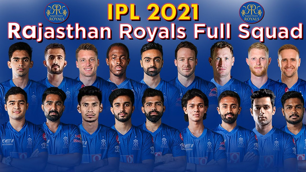 Rajasthan Royals team 2021