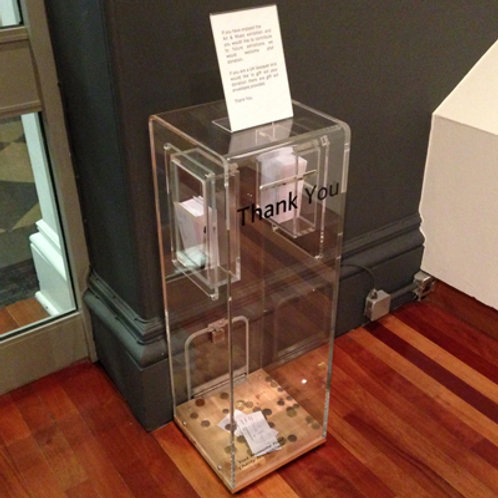 Perspex Acrylic donation box