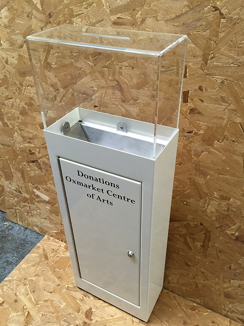 Steel donation box