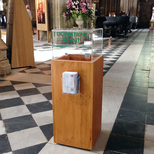Wood donation box