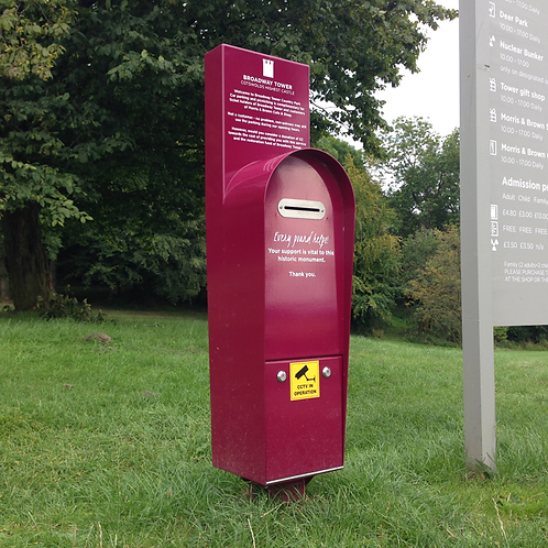 Outdoor donation box