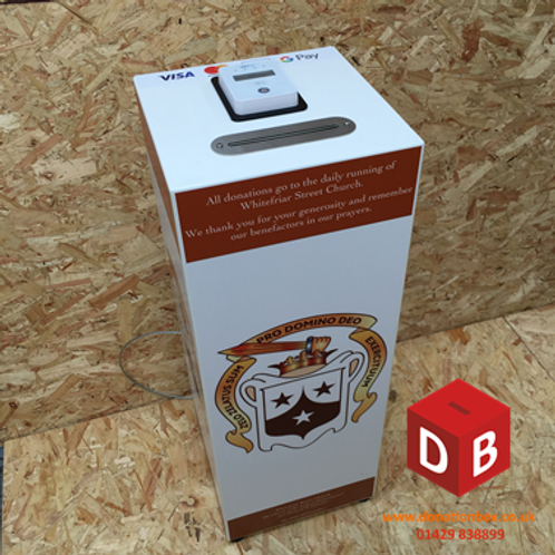 Steel Contactless Donation Box C