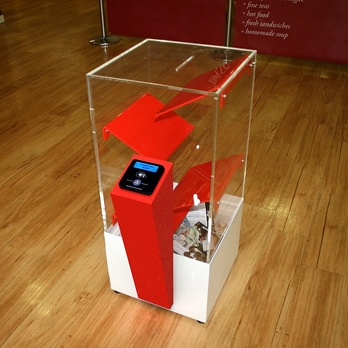 Interactive Contactless Donation Box F