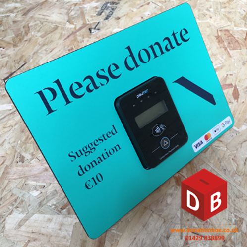 Payter Contactless Table Top Donation Box.