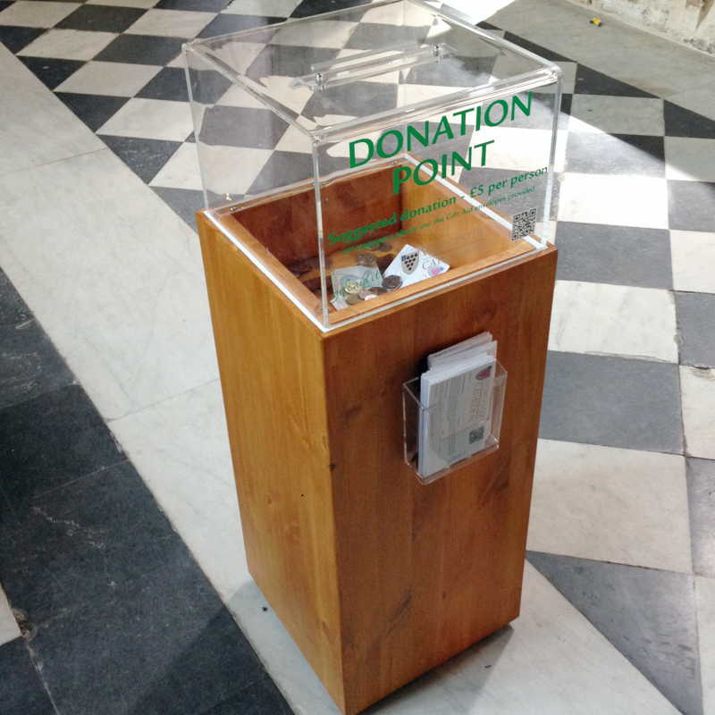 300 wood donation box - HOME