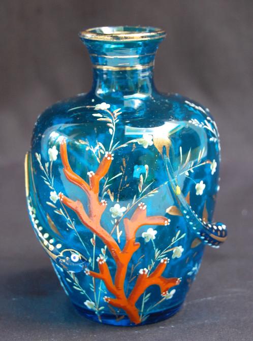 Moser Glass Under Sea Vase