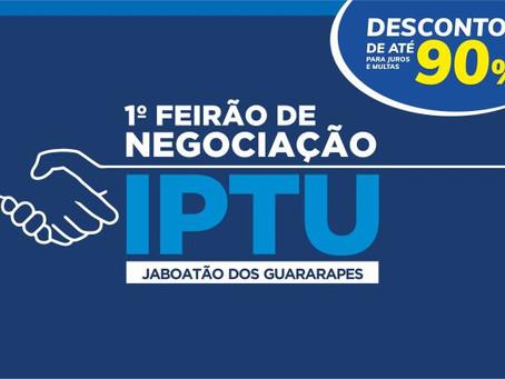 IPTU: Jaboatão oferece descontos de até 90% para regularização de débitos